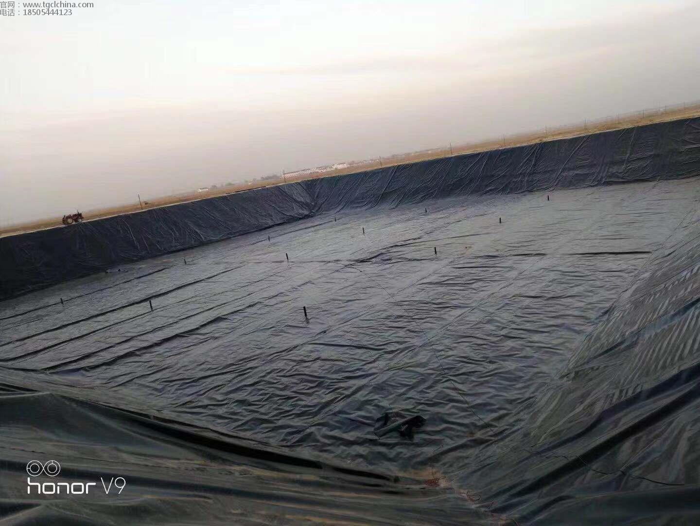 蓄水池采用1.2mm高密度聚乙烯土工膜进行防渗