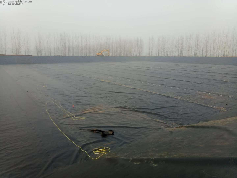 河南驻马店蓄水池防渗土工膜铺设焊接工程采用1.0mm土工膜