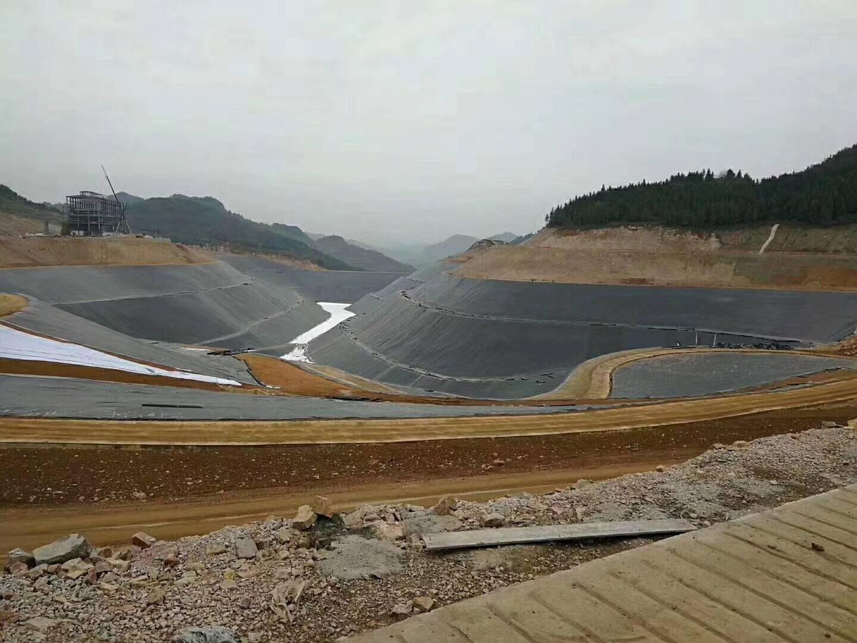 四川垃圾填埋场高密度土工膜,长丝土工布防渗工程