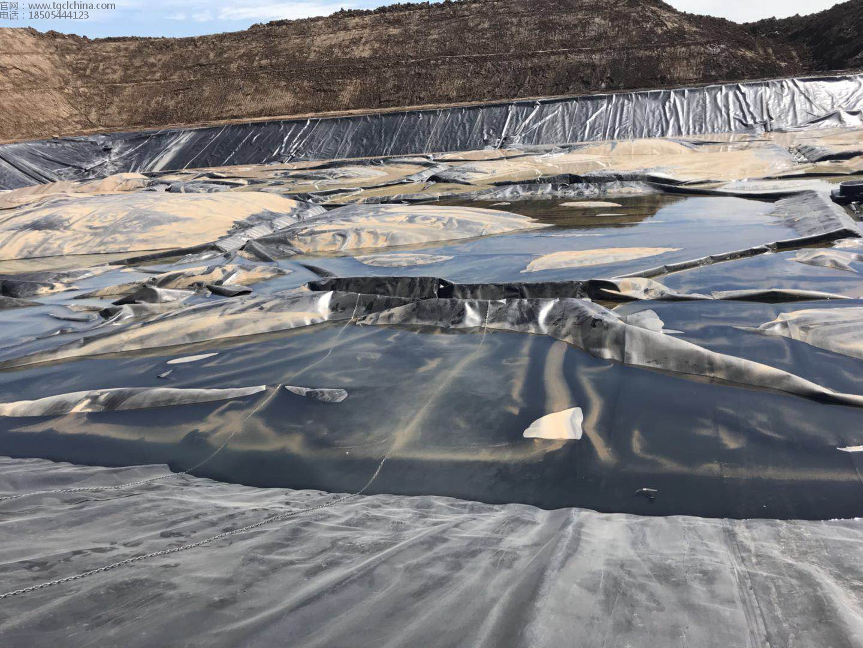 防渗土工膜用于垃圾场调节池覆盖,土工膜厂家首选鑫宇土工材料