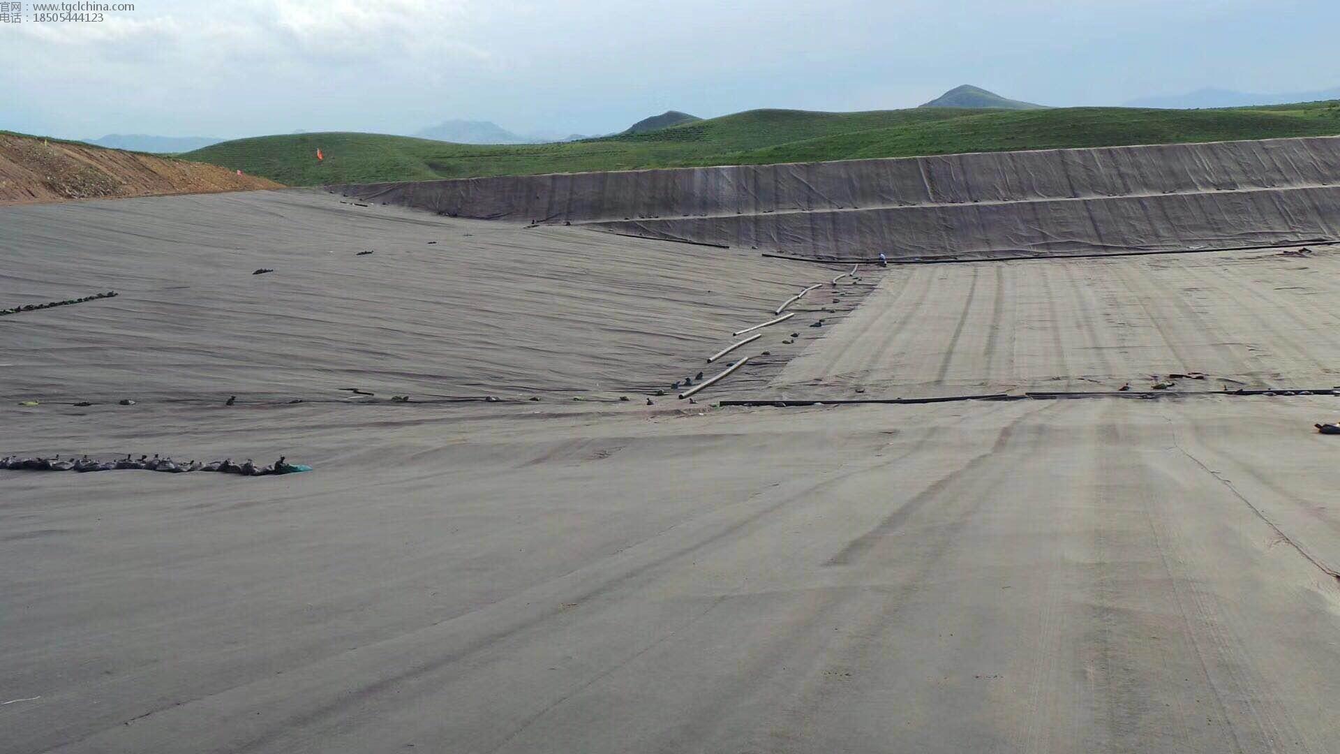 江西污水池防渗工程,采用1.5mm防渗土工膜